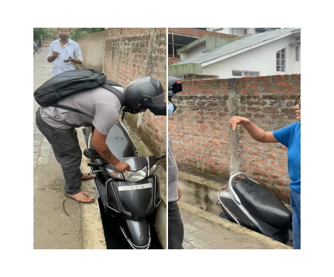 'No woman is vulnerable', Guwahati girl snubs back alleged molester, pushes scooty in drain; video goes viral