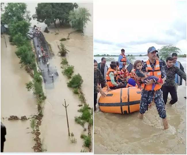 Madhya Pradesh Floods: Over 1,200 villages inundated, nearly 5,950 people rescued; IMD issues red alert for 5 districts, rescue ops underway