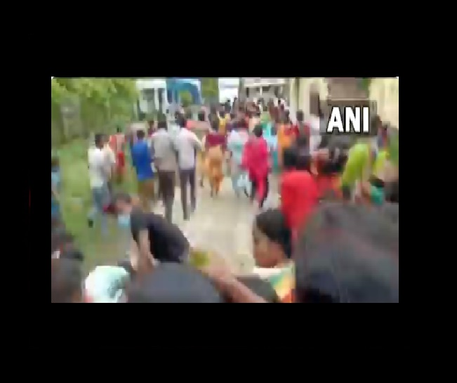 Watch   Stampede-like situation at COVID vaccination center in Bengal, 20 injured