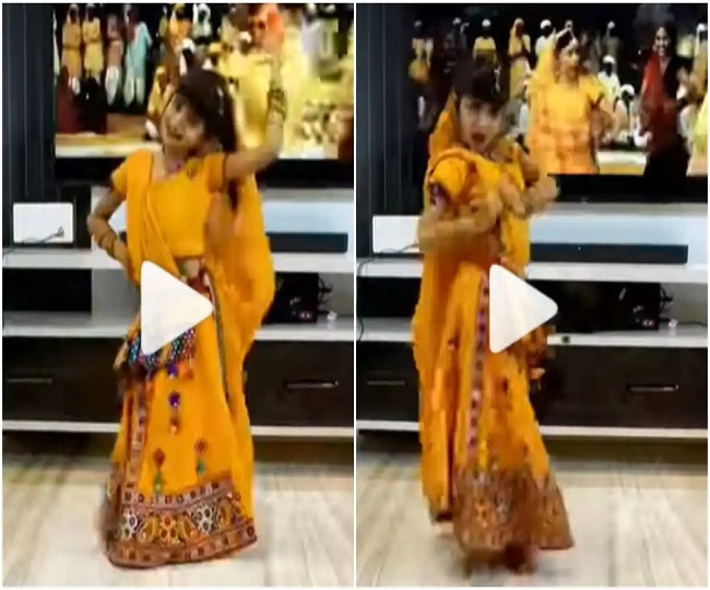 Little girl dances to Aamir Khan's song 'Radha Kaise Na Jale' on Janmashtami   Watch viral video here