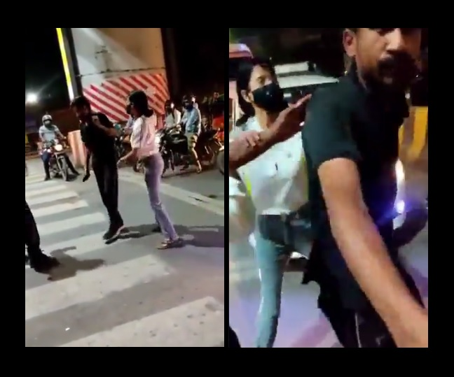 WATCH: Lucknow woman thrashes cab driver in presence of police; netizens say 'arrest her'