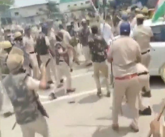 Police baton charge protesting farmers at Bastara toll plaza in Karnal, 10 injured; highways blocked