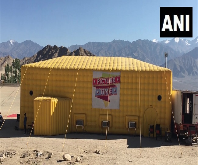 At altitude of 11,562 ft, Ladakh gets world's highest mobile theatre | See pics inside