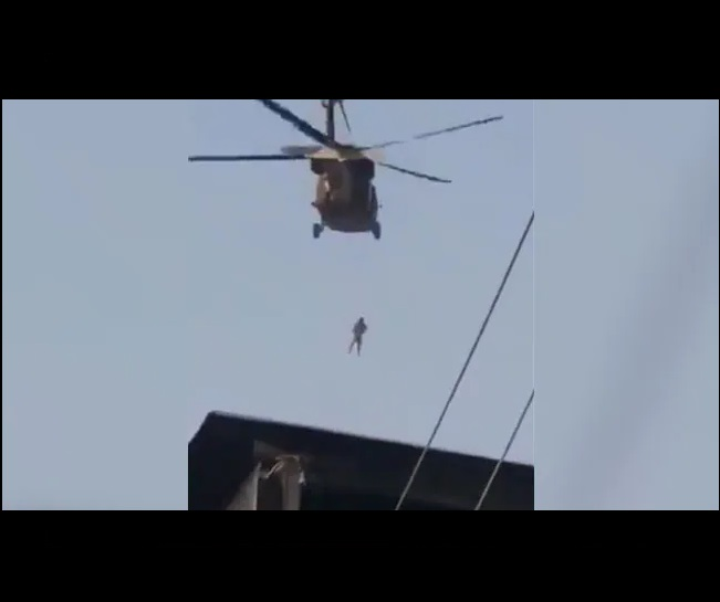 Taliban militants weren't flying US chopper with body hanging from rope as claimed in viral video; check truth here