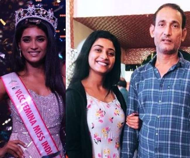 Miss India 2020 runner-up, Manya Singh wipes dad's tears as she arrives for felicitation ceremony | See Photos