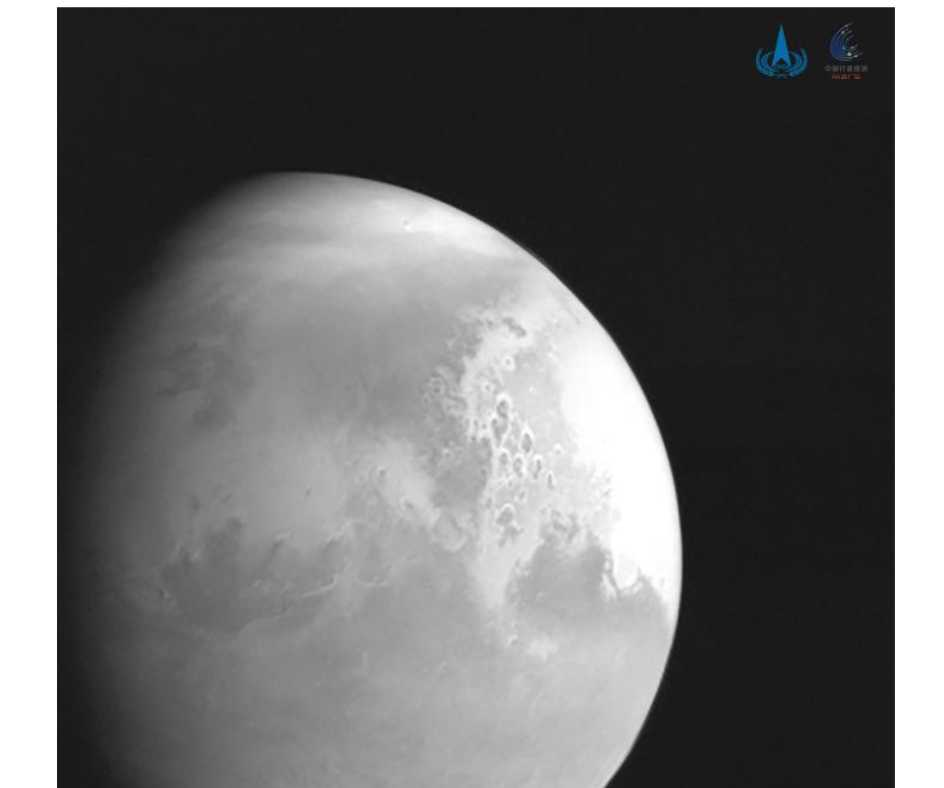 China's space probe Tianwen-1 nears Mars' orbit, sends back its first images of red planet | See Pics