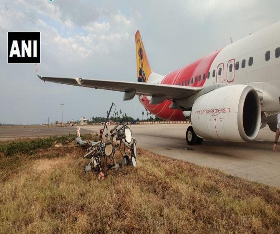 Major tragedy averted as Air India plane hits pole while landing at Vijayawada airport; none injured