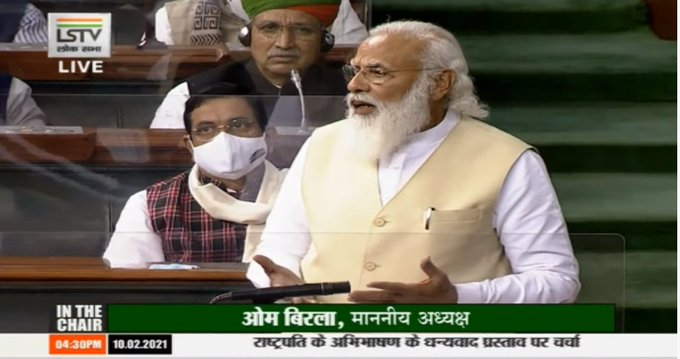 MSP, Mandi system continued after farm laws; govt respects sentiments of farmers: PM Modi in Lok Sabha