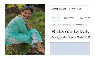 Google declares Rubina Dilaik as Bigg Boss 14 winner; Fans go crazy on..
