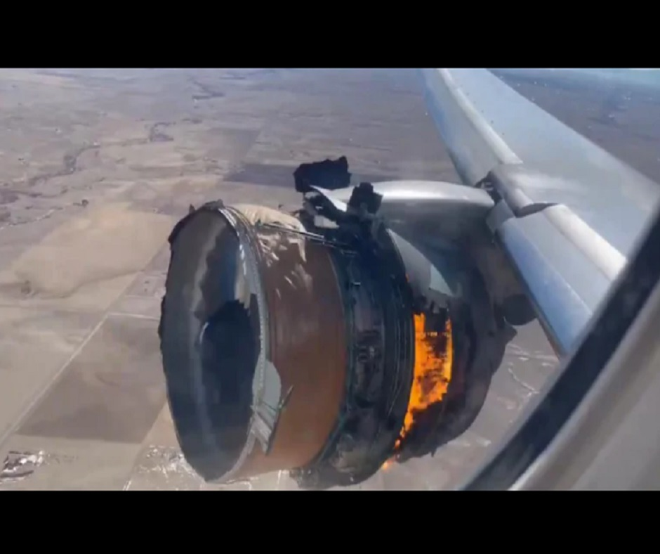 Caught on Camera: United Airlines flight catches fire midair in Denver after engine failure; none injured