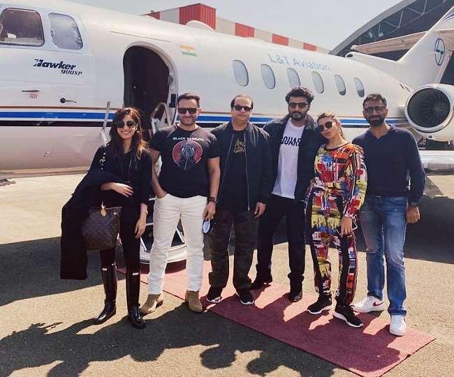 Bhoot Police: Saif Ali Khan, Arjun Kapoor head to Jaisalmer for final shooting; See Photos