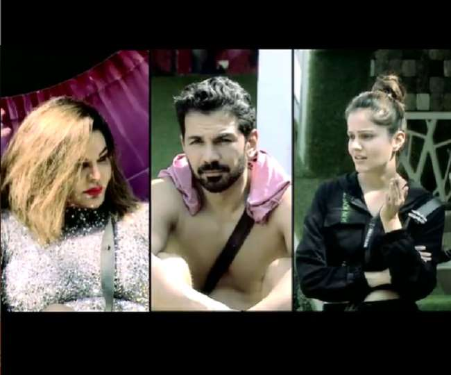 Bigg Boss 14: Rubina Dilaik loses her calm as Rakhi Sawant pulls drawstrings of hubby Abhinav Shukla's shorts | Watch
