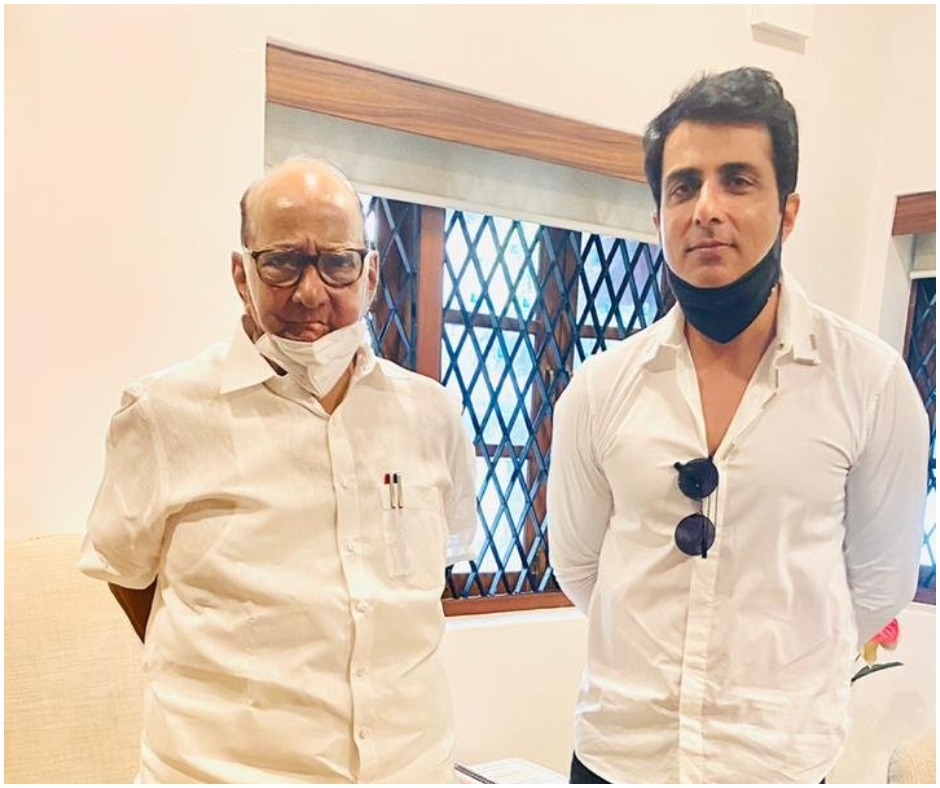 Sonu Sood meets NCP chief Sharad Pawar after BMC calls actor 'habitual offender' over unauthorised construction