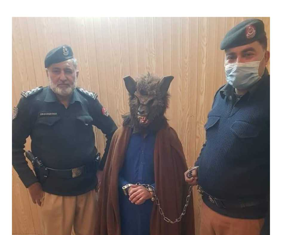Pakistani man arrested for wearing wolf mask and scaring people on NYE, netizens go ROFL