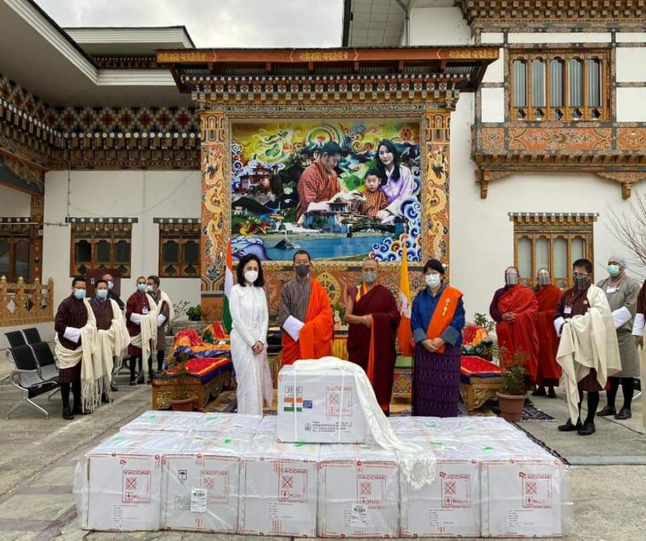 COVID-19 vaccine sent by India reaches Paro Valley in Bhutan