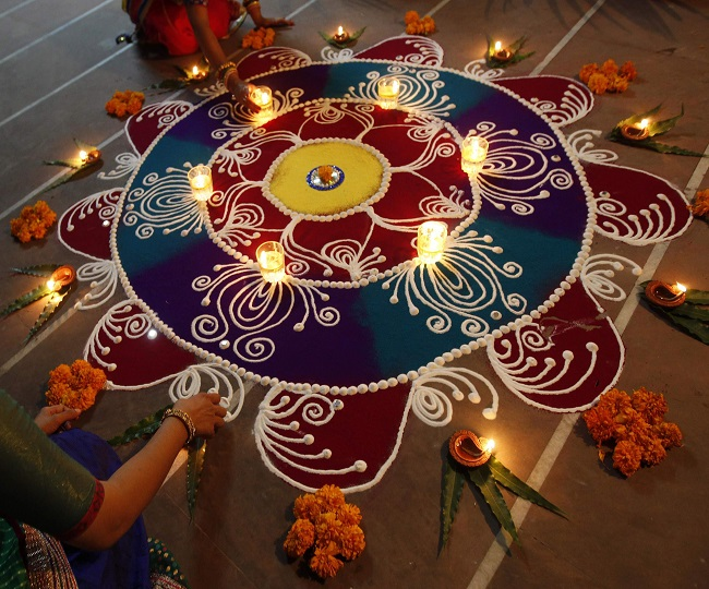 Happy New Year 2021 Rangoli Ideas: Light up your house with these traditional rangoli ideas this new year