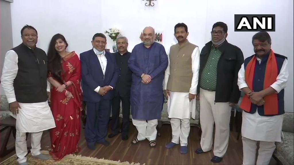 West Bengal Elections: Rajib Banerjee, 4 other former TMC leaders join BJP in Delhi