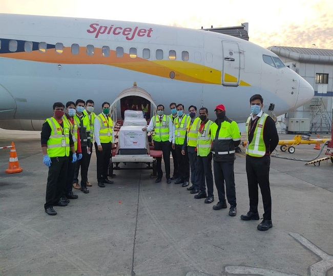Coronavirus Vaccine: First flight carrying SII's Covishield vaccines arrives in Delhi; to reach 13 locations today