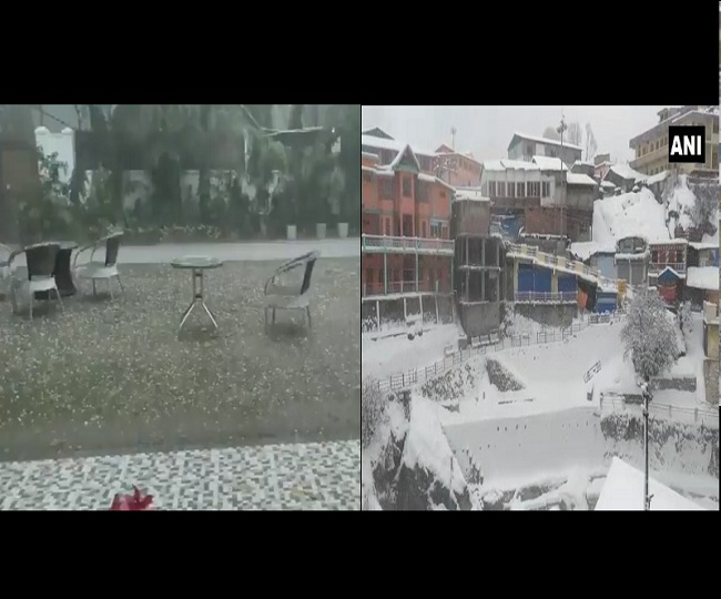 Weather Updates: More rains, hailstorm predicted in Delhi for today; normal life halts in Uttarakhand, J-K due to heavy snowfall