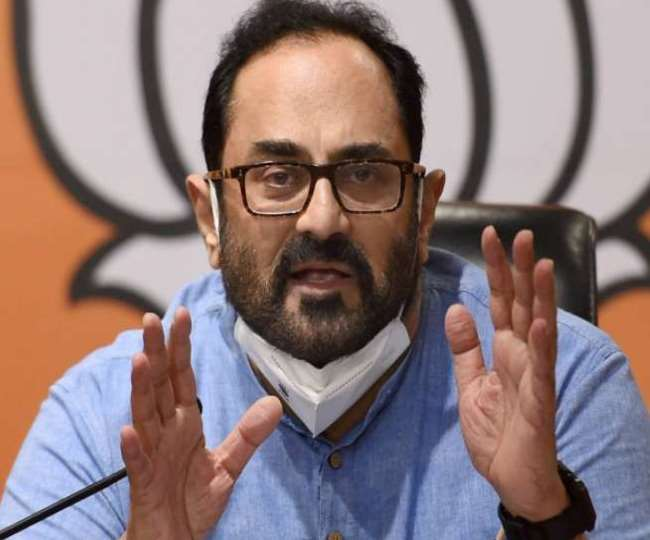 Twitter removes, later restores blue badge on MoS Rajeev Chandrasekhar's account, blames name change