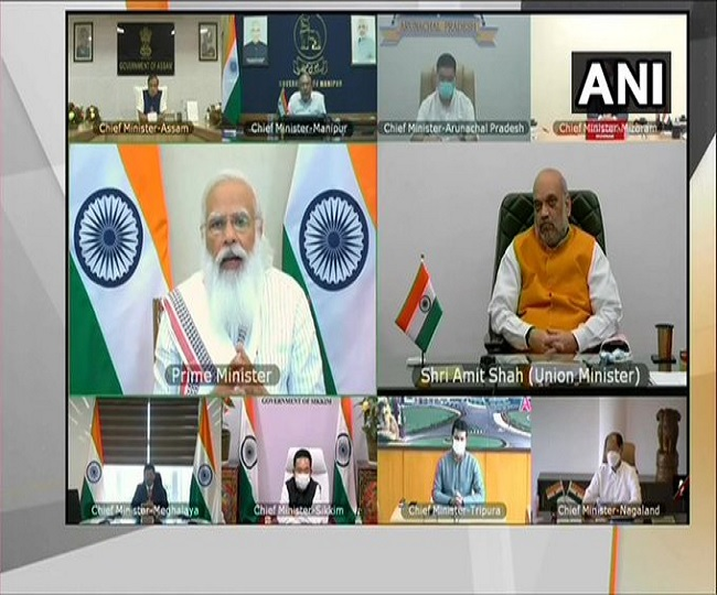 Coronavirus News | PM Modi's meet with CMs of north-eastern states to discuss COVID situation begins
