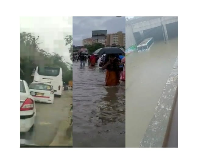 Delhi wakes up to heavy rains, more showers expected in this week; Twitter reacts as waterlogging, traffic jam halts movement