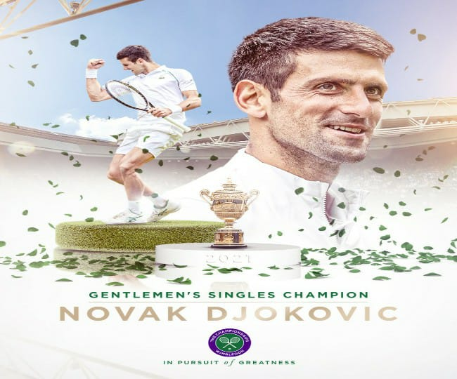 Wimbledon 2021: Novak Djokovic wins 20th title, equals Grand Slam title wins by Federer and Nadal
