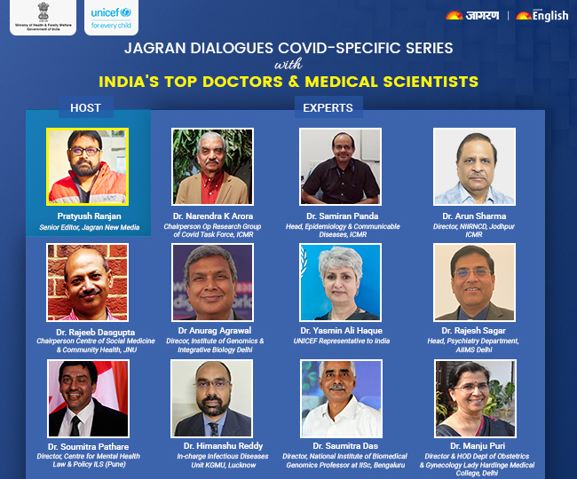 Jagran Dialogues Corona-specific Series: 200 Q&As on Covid-related health issues with India's top doctors, medical scientists, experts   Details Inside