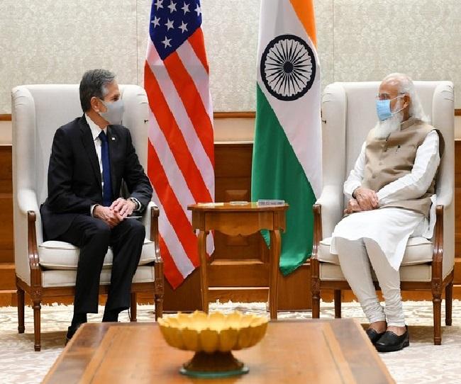 PM Modi highlights India-US partnership after meeting US Secretary of State Antony Blinken