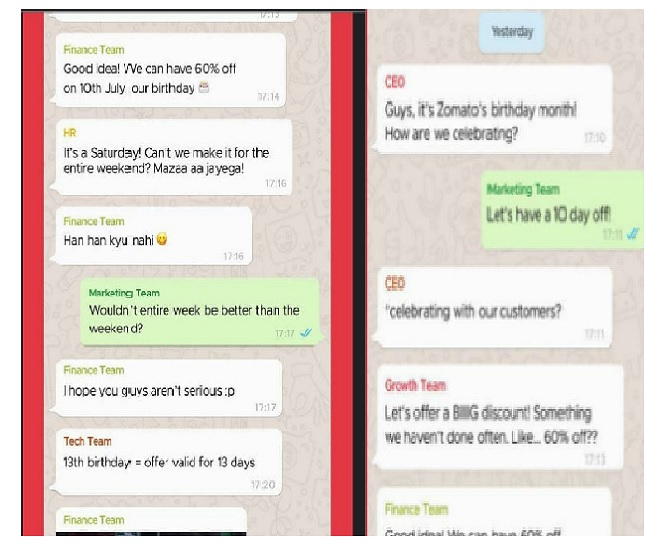 Zomato's 'leaked WhatsApp chat' reveals company's plan for customers; finance team exits group
