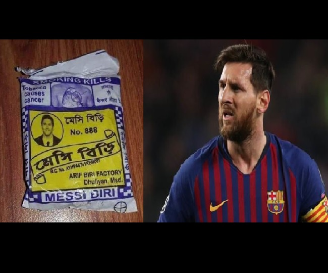 Lionel Messi's photo on 'Beedi' packet sparks meme fest on Twitter | See hilarious reactions