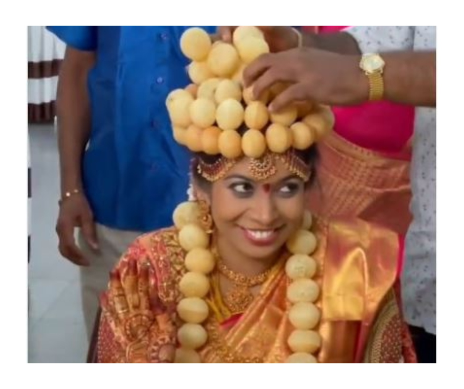 Viral Video: Indian bride's garland and crown made of 'golgappas' leaves the internet talking