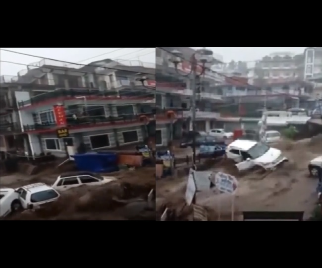 Watch | Cars washed way, shops damaged as cloudburst wreaks havoc in Himachal Pradesh's Dharamshala