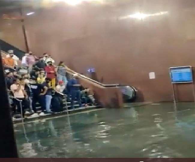 Kashmere Gate metro station witnesses severe waterlogging after heavy rains lash parts of Delhi