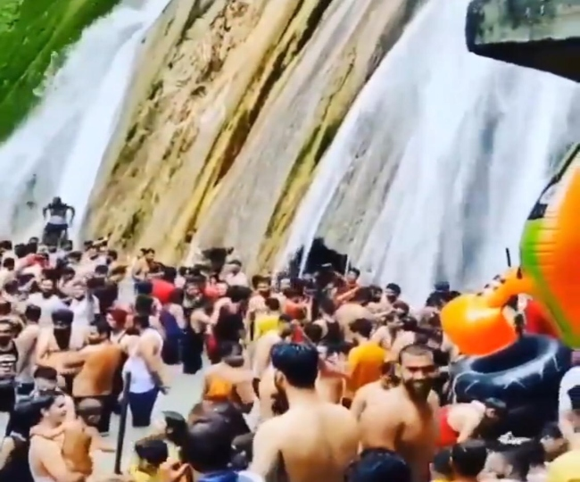 Day after viral video, number of visitors, bathing time at Kempty Falls capped by administration   Details