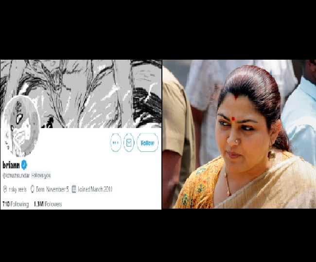BJP's Khushbu Sundar's Twitter account hacked again; username and profile picture changed