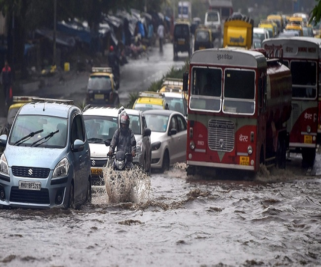 Mumbai Rains: Orange alert issued as IMD predicts heavy rainfalls; waterlogging reported, local services disrupted   Updates