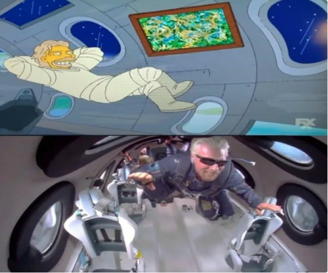 Not just Trump's presidency and GoT finale, 'The Simpsons' had predicted Richard Branson's space flight too