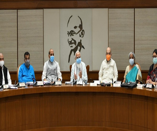 PM Modi chairs Union Cabinet's physical meet after more than a year