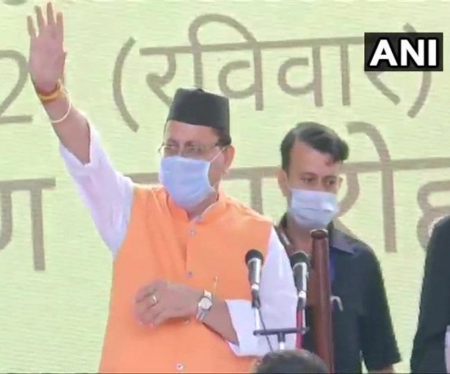 Pushkar Singh Dhami, BJP MLA from Khatima, sworn-in as 11th chief minister of Uttarakhand