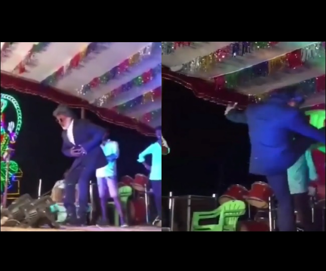 Rajinikanth's duplicate miserably fails while trying to pull off stunt on stage I Watch video