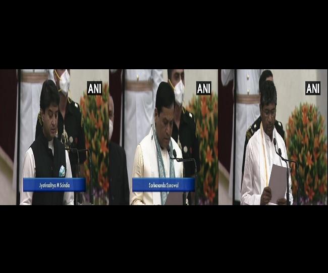 Modi Cabinet Reshuffle: Scindia, Sonowal, Pashupati Paras, Narayan Rane, 39 others take oath as ministers | Highlights