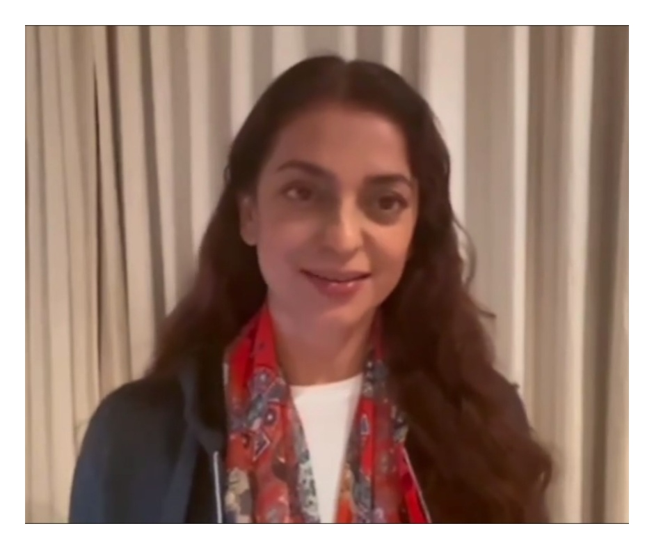 Fanboy sings Juhi Chawla's songs during her 5G plea hearing; Held for contempt of court