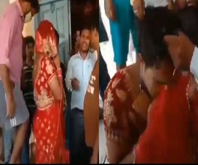 Man, dressed as bride to meet girlfriend at her wedding in UP, caught by family | Watch viral video