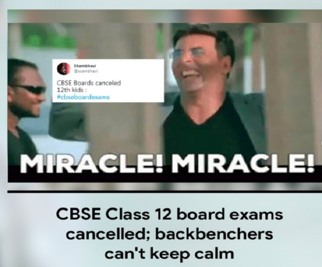 CBSE Class 12 Board Exams cancelled, backbenchers have the last laugh on Twitter's meme-fest