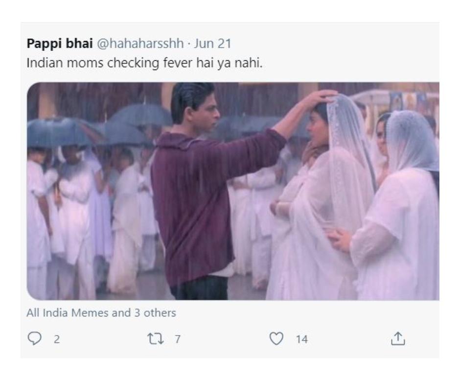 Shah Rukh Khan and Kajol's famous scene from K3G triggers hilarious meme fest