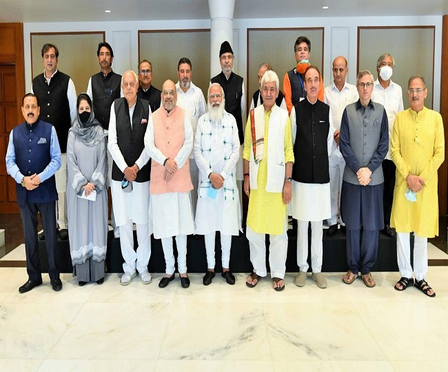 PM Modi's all-party meeting with J-K leaders concludes; Centre says focus on developing Valley