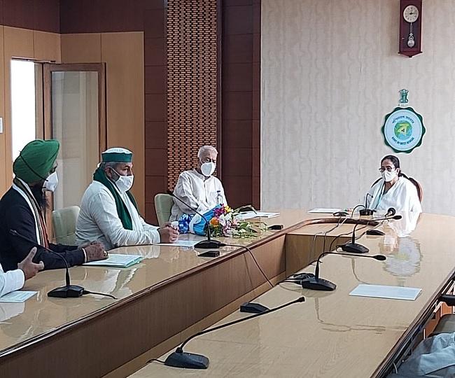 'Will support farmers till all their demands are met': Mamata Banerjee after meeting BKU leader Rakesh Tikait