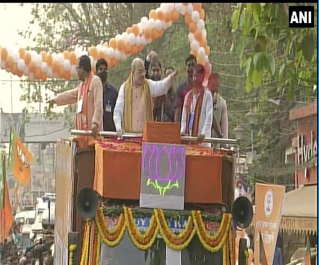 Assembly Polls 2021 | Union Home Minister Amit Shah holds roadshow in Medinipur, West Bengal | Highlights