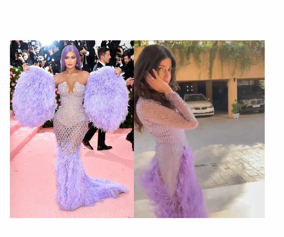 Divya Khosla Kumar called out by Diet Sabya for wearing a copy of Kylie Jenner's lilac feather dress   WATCH